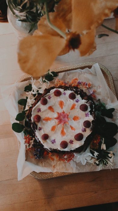 Herbal birthday cake from Sophia Rose