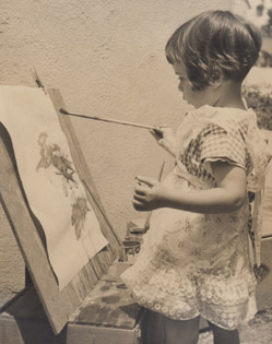 Alicia painting-age 3, 08-01-52-for website 90dpi