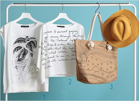 Aya Noguchi clothes with BOTS drawings 2015