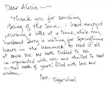 BOTS fan letter from Tigger Wheel