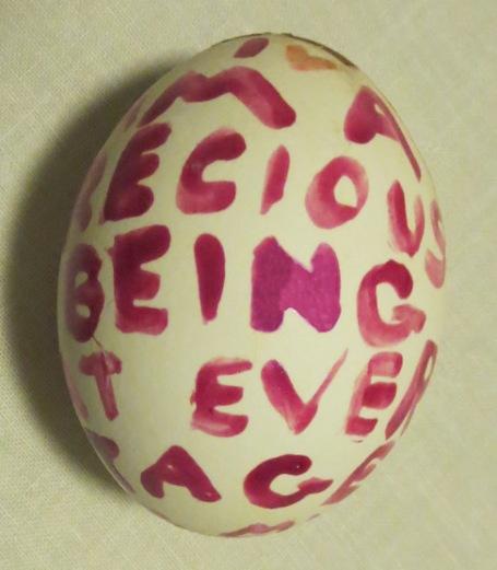 I am a Precious Being egg